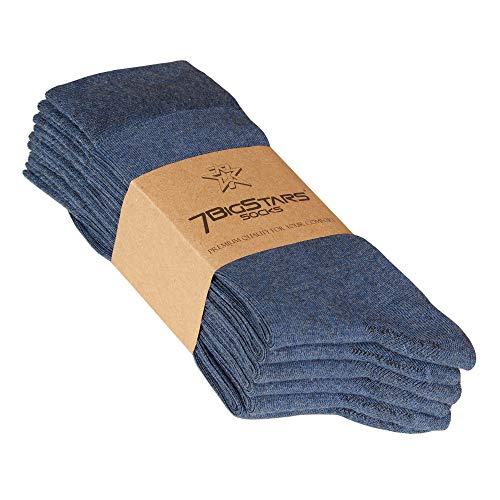 7BigStar Men Bamboo Dress Sock-6 Pack -XL/L/M- Black Khaki Beige Brown Grey Charcoal Navy Blue