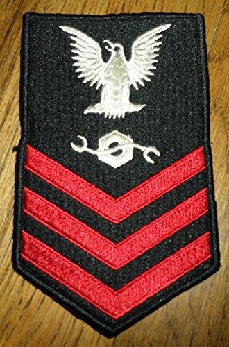 Us Navy Construction Mechanic Petty Officer First Class Uniform Patch (Petty Uniform Officer)
