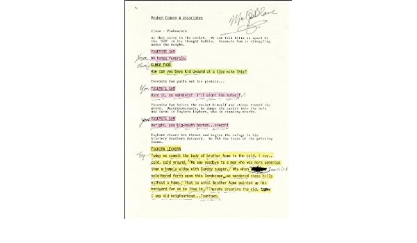 Mel Blanc - Script Signed at Amazon\'s Entertainment Collectibles Store