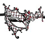 Coddsmz Luxury Mysterious Half Face Mask Lady Masquerade Halloween Mardi Gras Laser Cut Mask