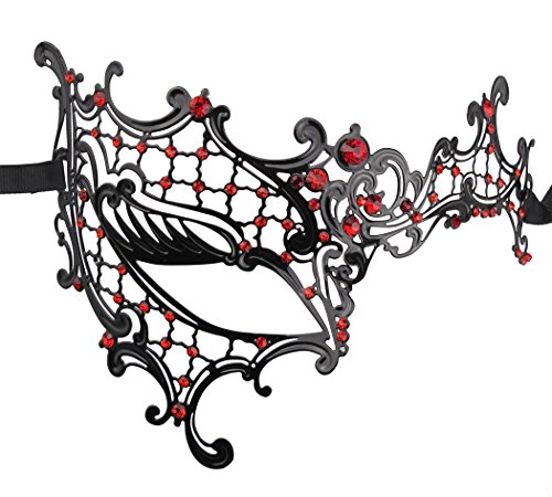 (Luxury Mysterious Half Face Mask Lady Masquerade Halloween Mardi Gras Laser Cut)