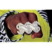 Disfraz de Rubie's Costume Co Triple Dollar Sign Ring