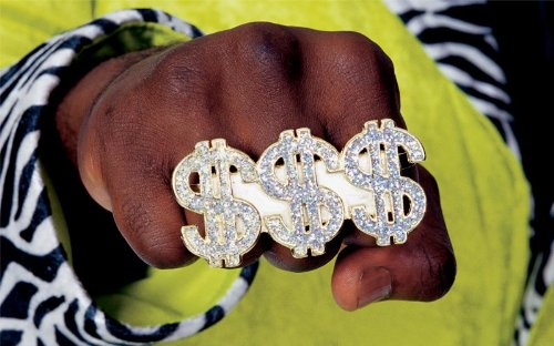 [Rubie's Costume Co Triple Dollar Sign Ring Costume] (Costumes Jewelry Prices)
