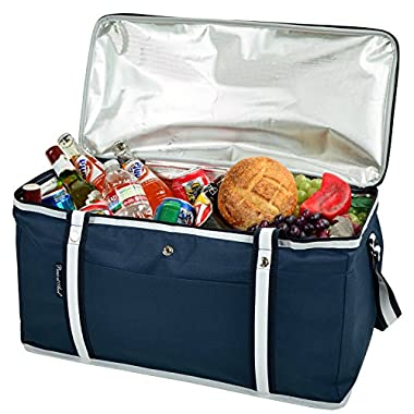 Picnic at Ascot 72 Can Large Folding Collapsible Cooler - Navy