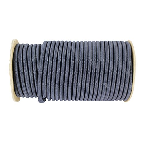 Shock Cord 1/4 inch - SGT KNOTS - Marine Grade Dacron Polyester Bungee - 100% Stretch - Moisture, UV, Weather Resistant - DIY Projects, Tie Downs, Commercial, Indoor, Outdoor (25 feet - Midnight Blue) by SGT KNOTS (Image #1)