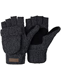 Winter Knitted Fingerless Gloves Convertible Wool Mittens Warm Glove Women & Men