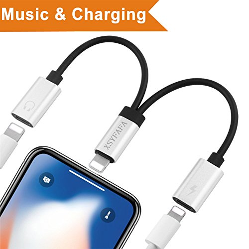 Headphone Ipod Connector (Dual Lightning Audio Adapter for iPad iPod iTouch iPhone X 10 8/8 Plus 7/7 Plus iPod iPad Assistant Connector Converter Headphone Accessories Headphone Cable Dispenser,Support ios11 or later)