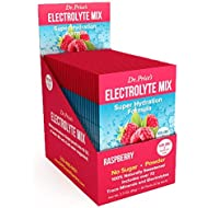 Electrolyte Mix, Raspberry Electrolyte Powder | 30 Packets, Hydration Replacement Keto Drink | Zero Sugar, Non-GMO, 72 Trace Minerals Plus Potassium, Magnesium, Calcium and Sodium