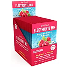 Electrolyte Mix Super Hydration Powder + 72 Trace Minerals | NEW! Raspberry Flavor (30 packets) Sports Drink Mix | Dr. Price's Vitamins | No Sugar, Non-GMO, Gluten Free & Vegan