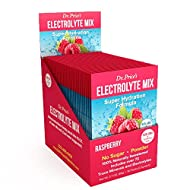 Electrolyte Mix Supplement Powder, 72 Trace Minerals, Potassium, Sodium, Electrolyte Replacement Keto Drink | Raspberry 30 Packets | Dr. Price's Vitamins, No Sugar, Vegan, Non-GMO, Gluten-Free