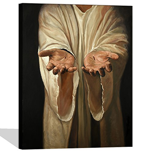 Visual Art Decor Christ Religion Painting Wall Decoration Scars On The Hands Jesus Picture Canvas Prints Gallery Wrapped Home Room Decor Artwork (24
