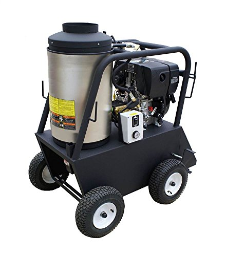 Cam Spray 25006QD Q Series Portable Diesel Fired Diesel Powered Hot Water Pressure Washer, 2500 psi, 50' Hose