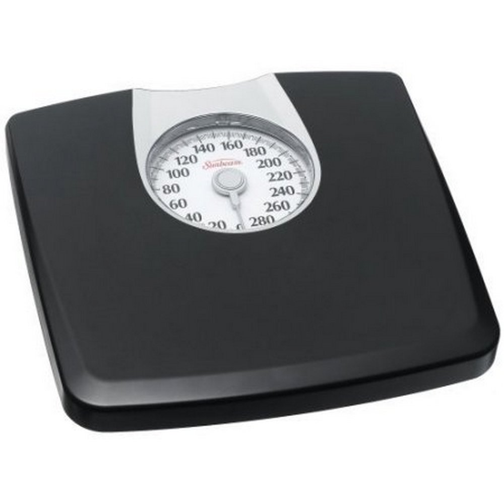 sca sunbeam dial scale with oversize dial display for easy reading ,Black with Silver Accent