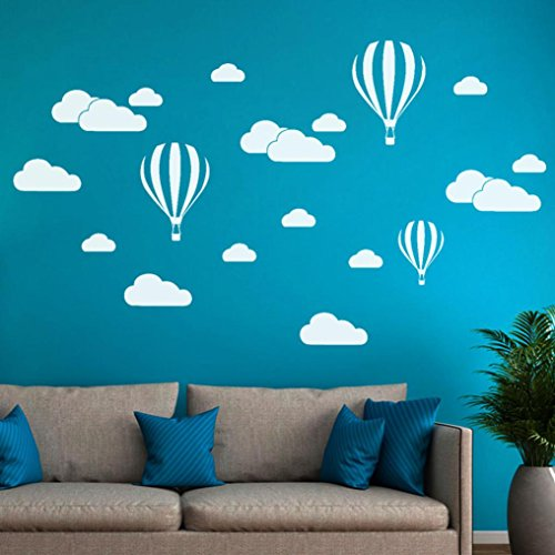 Transer DIY Large Clouds Balloon Wall Sticker Decal