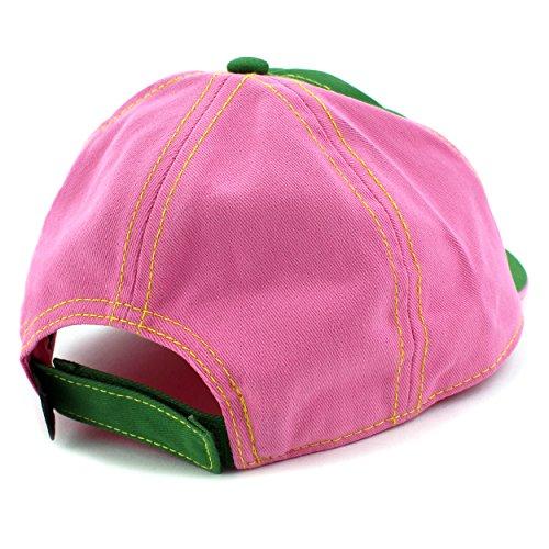 John Deere Girls Backpack with Baseball Cap Hat Set (S/M (4-8), Peace Love Tractors)
