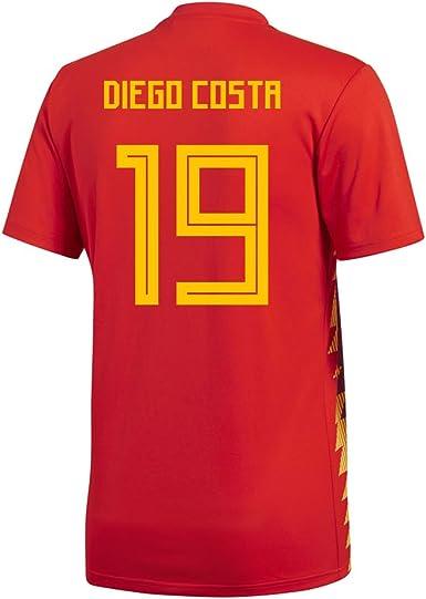 adidas Diego Costa #19 España Home - Camiseta de fútbol para hombre, diseño de la Copa Mundial de Rusia 2018: Amazon.es: Deportes y aire libre