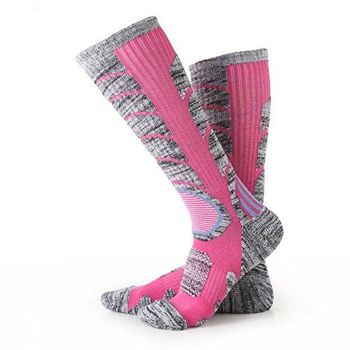 9039a1d134b8 Matari Womens Cotton Thicken Climbing Skiing Hiking Winter Foot Warm Socks  (Rose Red)