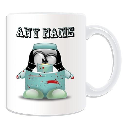 De regalo con mensaje personalizado - taza de desayuno cirujano ...