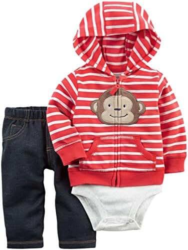 Carter's Baby Boys' 3-Piece Monkey Hoodie Set