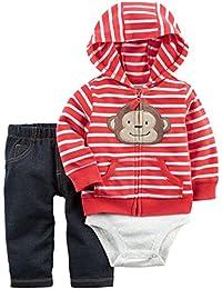 Carter's Baby Girls Short-Sleeve Safari Bodysuit, Pack of 5