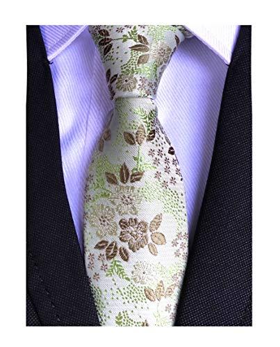 Mens Silk Mint Green Bronze Ties Summer Cool Gentleman Party Self Cravat Necktie