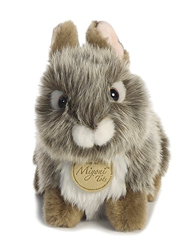 Aurora World Miyoni Baby Bunny Plush, Grey