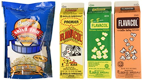 Gold Medal Products 2045 Flavacol Seasoning & Popcorn Salt Assortment by Gold Medal