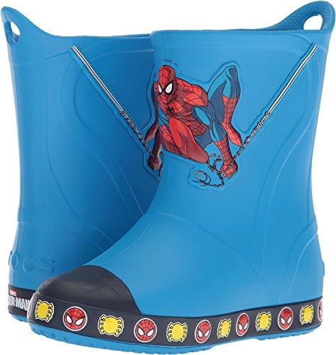 Spiderman Boot Slip-on, Ocean, 7 M US Toddler ()