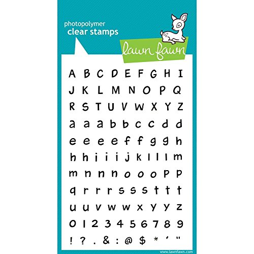 Clear Stamps Uppercase Letters (Lawn Fawn Clear Stamps - Harold's ABCs (LF317))