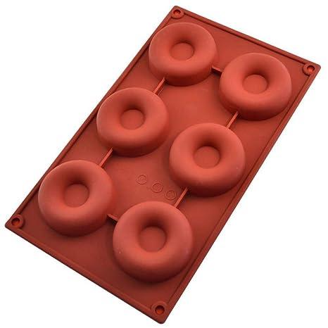 Isuper 6 El buñuelo de Silicona en Forma de Molde de la Torta Molde de la
