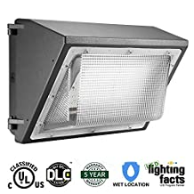Cinoton LED 60W Wall Pack Fixture, 150-400W HPS/HID Replacement, 5000K, 7200 Lumens, Waterproof and Outdoor Rated, Gargen Lamp Ultra-bright Security Lighting