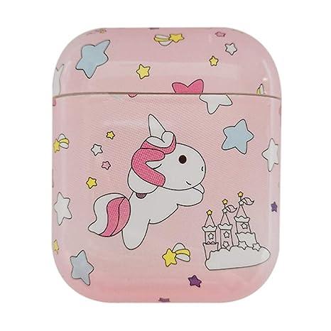 Amazon.com: QIANLONG Unicornio Funda para Apple Airpods ...