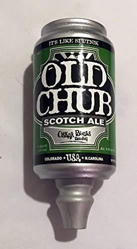 Oskar Blues Old Chub Scotch Ale Beer Can Tap Handle - Ale Tap Knob