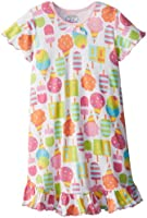 Sara's Prints Girls' Short Sleeve Nightie