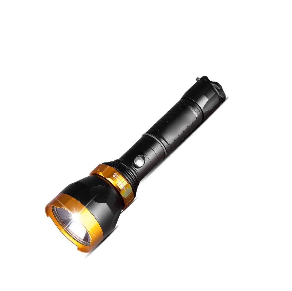 MX LED-Blendung Taschenlampe, Super Helle Long-Range-Taschenlampe, Wiederaufladbare Multi-Funktion Taschenlampe, Outdoor-Haushalt Angeln,schwarz,Taschenlampe