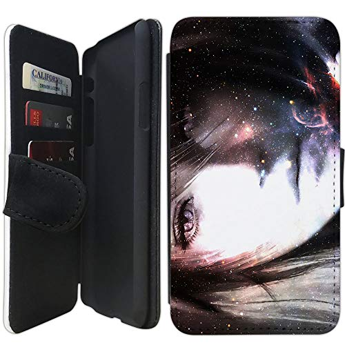 Flip Wallet Case Compatible with iPhone X/XS (5 8 inch) (Fantasy Final Love  Affair) with Adjustable Stand and 3 Card Holders | Shock Protection |
