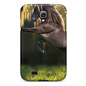 New Arrival Case Cover With Design For Galaxy S4- Horses Animals