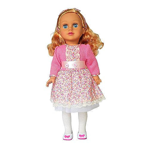 Rifi American Living Style Girls Doll, 18 inches Dolls for Age 5+, Smile Blink Eyes, Movable Limbs, Stand Up, Changeable Clothes (Dolores)