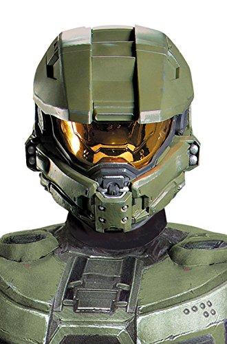 [Mememall Fashion Halo Master Chief Adult Men Deluxe Full Costume Helmet] (Full Halo Costumes)