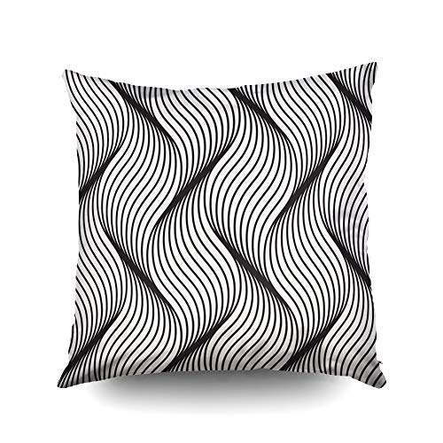 - Capsceoll Christmas Pattern Geometric Waves Stylish Texture Ripple Decorative Throw Pillow Case 18X18Inch,Home Decoration Pillowcase Zippered Cushion Covers with Words for Book Lover Worm Sofa Couch