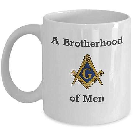 Amazon.com: Taza de café Masonic – Una hermandad de hombres ...