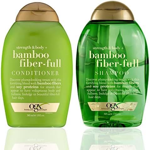 Shampoo & Conditioner: OGX Bamboo Fiber-Full