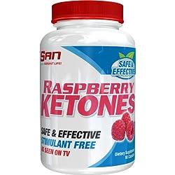 SAN Nutrition Raspberry Ketones Stimulant-Free Fat-Loss Supplement, 90 Count
