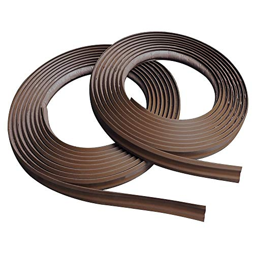 InstaTrim IT05INDBR self-adhesive trim, Two.5in x 10ft long spools, Dark Brown, 2 Piece ()