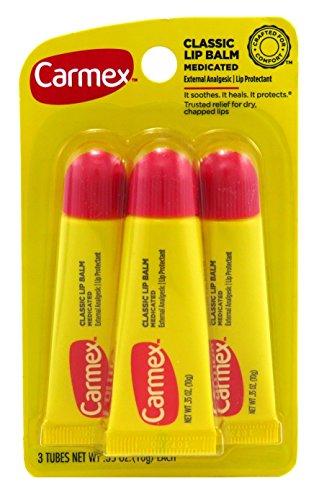 Carmex Classic Flavored Lip Balm 0.35 oz, 3 ea (Pack Of 3)