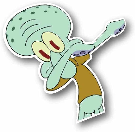 Squidward Dabbing! Funny Sticker Vinyl Sticky