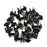uxcell 16 Pcs M6 Motorcycle Sportbike Fairing Bolts Kit Fastener Clips Screws Black