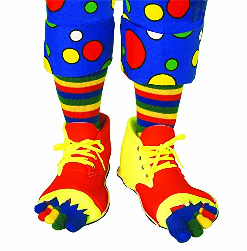 Clownin' Around Jumbo Deluxe Clown Shoes And Sock Set | Vibrant & Bright Color