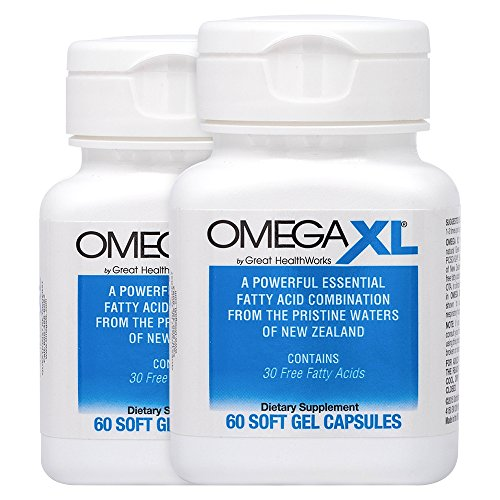 OmegaXL® 2 pack All-Natural Powerful Omega-3 Health Supplement with DHA and EPA to Help Relieve Joint Pain Due to Inflammation by Great HealthWorks