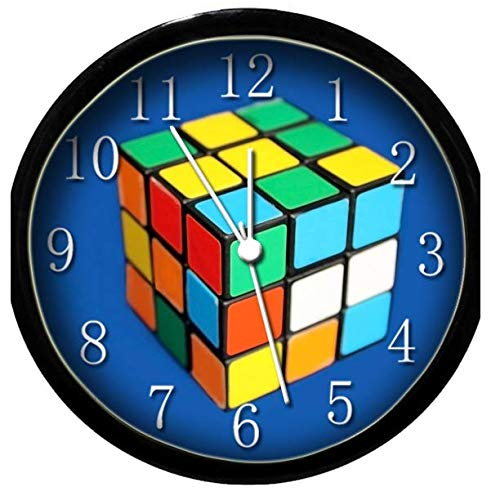 (Krazy Klockz Glow in The Dark Wall Clock - Rubiks Cube)